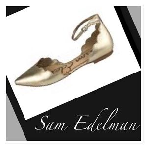 Sam Edelman Sz 7 Rowan D'Orsay Ankle Strap Flats